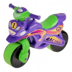 Motocicleta de curse Doloni cu sunete si lumini, mov cu verde
