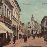 BUCURESTI, PIATA SFANTUL GHEORGHE, MAGAZINE, CIRCULATA 1906 - Carte Postala Muntenia 1904-1918, Printata