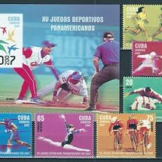 CUBA 2007 - JOCURI OLIMPICE - SERIE DE 6 TIMBRE+BLOC NESTAMPILAT - MNH / sport99