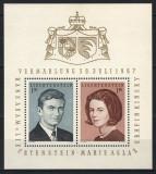 LIECHTENSTEIN 1967 - REGALITATE, NUNTA REGALA - BLOC NESTAMPILAT - MNH / personalitati82