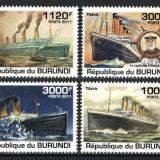 BURUNDI 2011 - NAVIGATIE, TITANIC - SERIE DE 4 TIMBRE - NESTAMPILATA - MNH - COTA MICHEL : 9.5 E / navigatie55
