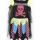 Costum carnaval, cosplay, Piratesa Horror Halloween, 13-14 ani, NOU - Costum Halloween, Marime: XXS, Culoare: Nero