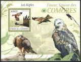 COMORES 2009 - PASARI DE PRADA - BLOC NESTAMPILAT - MNH / pasari83