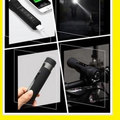 MP3 BICICLETA lanterna led & bluetooth suport bike baterie externa 6 in 1 - Accesoriu Bicicleta