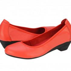 Pantofi piele casual dama Eldemas Donna red 2062RED