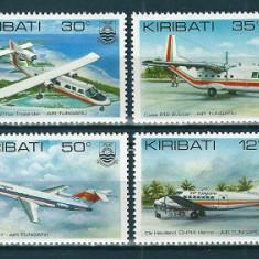 KIRIBATI 1982 - AVIATIE - SERIE DE 4 TIMBRE - NESTAMPILATA - MNH / aviatie38
