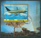MANAMA 1972 - AVIATIE - BLOC STAMPILAT / aviatie20