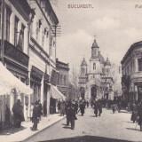 BUCURESTI, PIATA SFANTUL GHEORGHE, MAGAZINE, ANIMATA, CIRCULATA 1905 - Carte Postala Muntenia 1904-1918, Printata