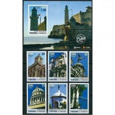 CUBA 2011 - TURISM - SERIE+COLITA NESTAMPILATA - MNH