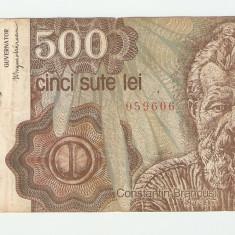 ROMANIA 500 LEI / IANUARIE 1991. - Bancnota romaneasca