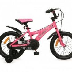 Bicicleta 16 Inch Copii 6-9 Ani Moni Byox DEVIL Roz