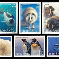 ROMANIA 2007 - FAUNA POLARA - SERIE DE 6 TIMBRE - NESTAMPILATA - MNH / fauna303