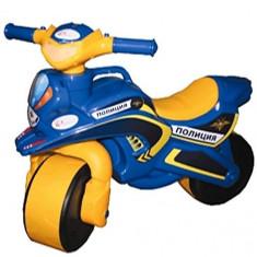 Motocicleta de politie Doloni cu sunete si lumini, albastru cu galben