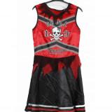 Rochita carnaval, halloween, Majoreta Skull, 15-16 ani - Costum Halloween, Marime: XS/S, Culoare: Rosu