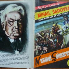 Banda desenata romaneasca , Neamul Soimarestilor ,desene Nicu Russu , Stadion ,1