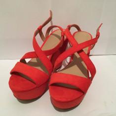 Sandale cu platforma Zara - Sandale dama Zara, Culoare: Din imagine, Marime: 37