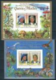 TUVALU - NUI 1985 - REGALITATE BRITANICA, ANIVERSARE REGINA ELISABETA - 2 BLOCURI DELUXE - NESTAMPILATE - MNH / personalitati252