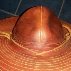 Palarie handmade PIELE naturala exotica/vanatoare calarie motociclist cowboy