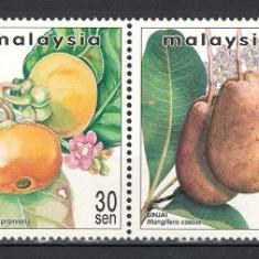 MALAEZIA 1999 - FRUCTE RARE - SERIE NESTAMPILATA - MNH