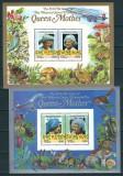 TUVALU - NANUMEA 1985 - REGALITATE BRITANICA, ANIVERSARE REGINA ELISABETA - 2 BLOCURI DELUXE - NESTAMPILATE - MNH / personalitati249