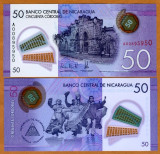 !!!  NICARAGUA  -  50  CORDOBAS  2015  -  P 212  - UNC  // POLIMER
