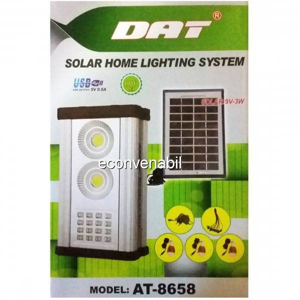 Kit Incarcare Solara Lanterna LED 10W DAT AT8658 foto mare