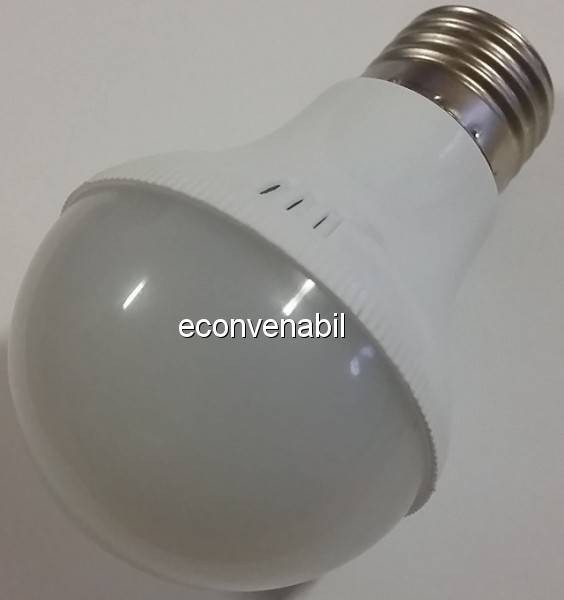 Bec cu LEDuri Economice Glob Mat E27 12W Alb Rece foto mare