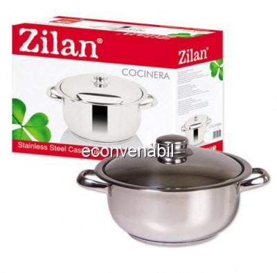 Oala Inox cu Capac 8L Zilan Cocinera ZLN7260 foto