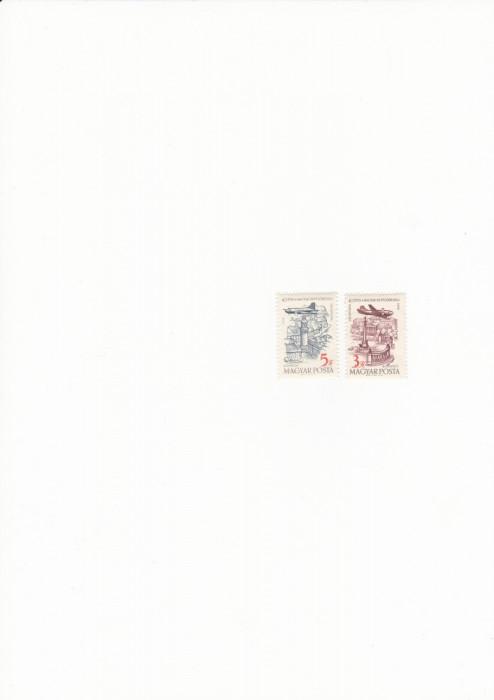 ungaria 1958 posta aeriana MNH foto mare