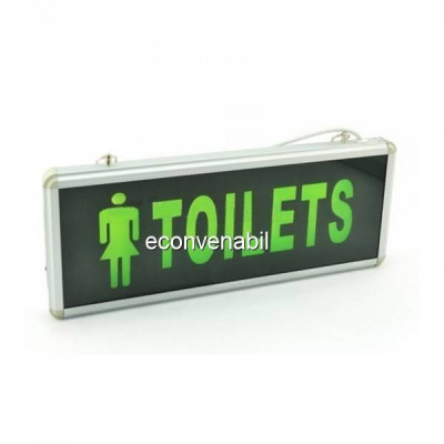 Indicator Luminos Toilets Femei LED si Acumulator 355x145mm 1 Fata WT foto