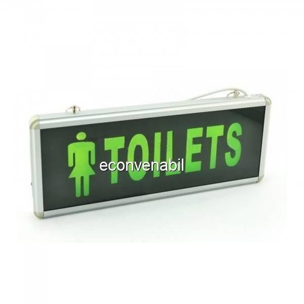Indicator Luminos Toilets Femei LED si Acumulator 355x145mm 1 Fata WT foto mare