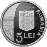 Romania - 5 Lei 2006 - 31.103 gr Argint g 999 - Biserica DENSUS  - PROOF
