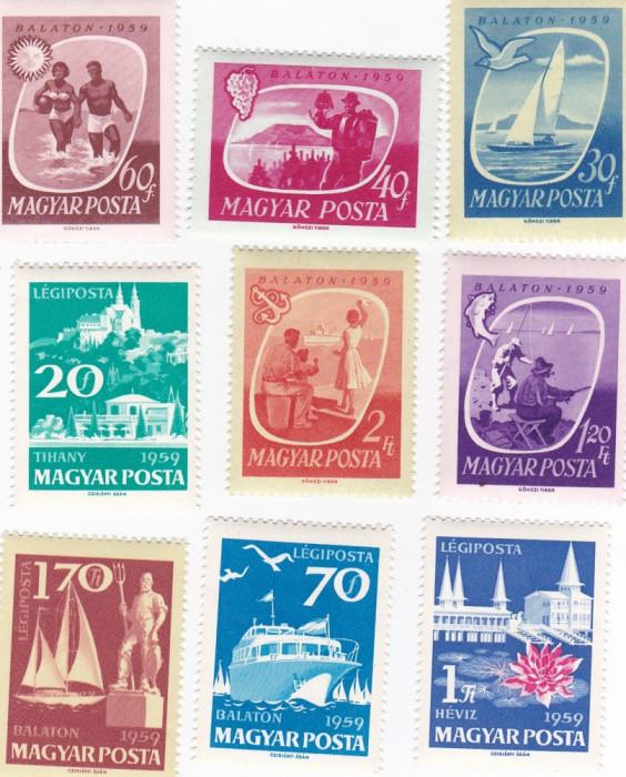 ungaria 1959 Mi 1609a-1617a MNH foto mare