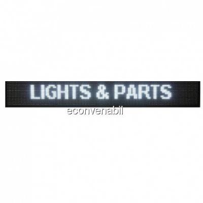 Reclama Luminoasa cu LEDuri Lumina Alba 130x20cm foto