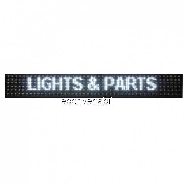 Reclama Luminoasa cu LEDuri Lumina Alba 130x20cm foto mare
