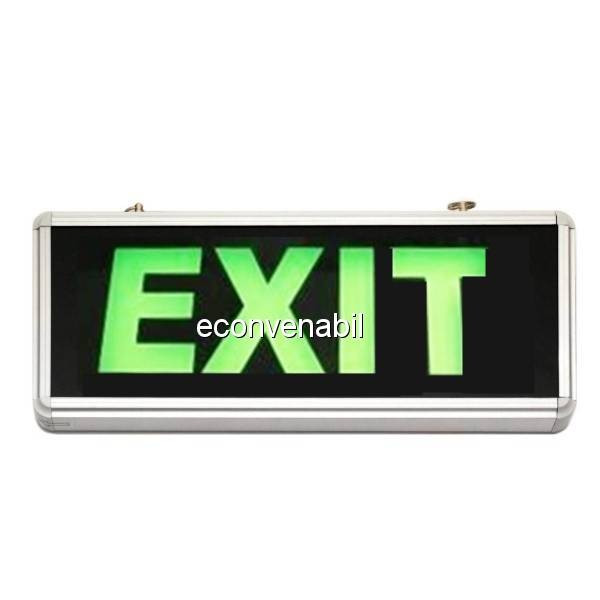 Indicator Luminos EXIT cu LED si Acumulator pentru Iesire Cladiri foto mare
