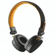 Casti audio Trust Urban Fyber, 3.5 mm Jack, cu microfon, Negru/Portocaliu - Casca PC