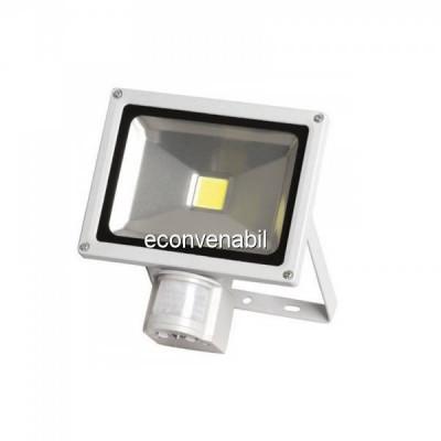 Proiector LED 20W cu Senzor Miscare Alb Rece 6500K 220V UB60035 foto