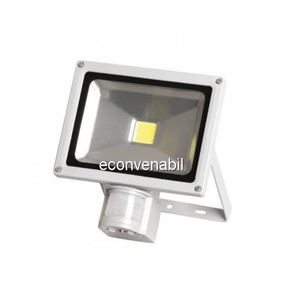 Proiector LED 20W cu Senzor Miscare Alb Rece 6500K 220V UB60035 foto mare