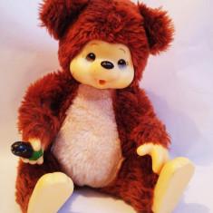 Jucarie plus Monchhichi mascota urs / ursulet maro, 20cm - Jucarii plus