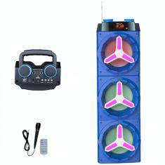 BOXA KARAOKE ACTIVA, BLUETOOTH, MIXER CU MP3 PLAYER USB, TELECOMANDA, RADIO, MICROFON - Echipament karaoke