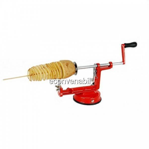 Masina Taiat Cartofi Spirala Spiral Potato Chips Inox foto mare