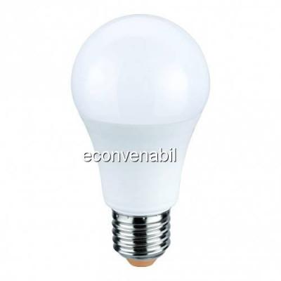 Bec LED A60 10W Alb Cald 2700K soclu E27 220V Glob Mat UB60054 foto