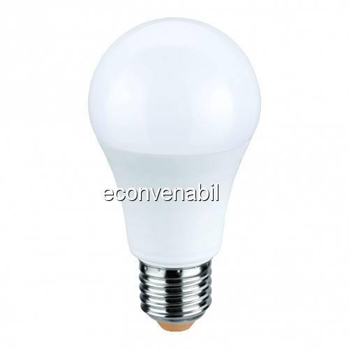 Bec LED A60 10W Alb Cald 2700K soclu E27 220V Glob Mat UB60054 foto mare