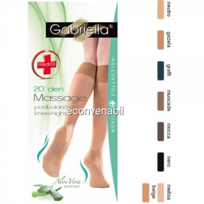 Ciorapi trei sferturi Gabriella Medica Knee-High Aloe Vera 20 DEN 502 foto