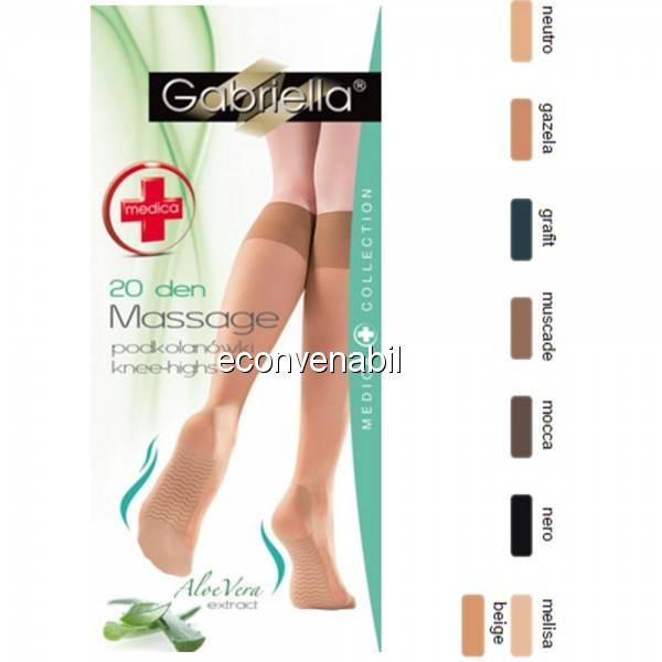 Ciorapi trei sferturi Gabriella Medica Knee-High Aloe Vera 20 DEN 502 foto mare
