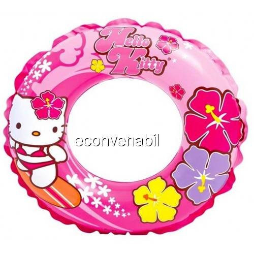 Colac inot gonflabil copii Hello Kitty Intex 56210NP 61cm foto mare