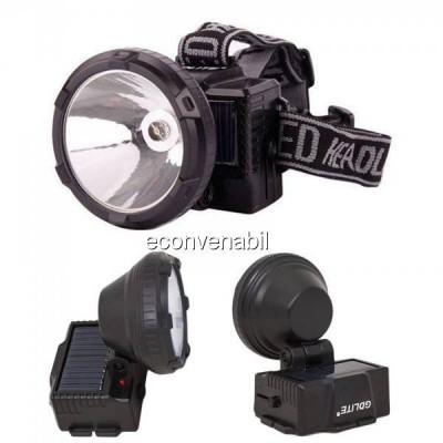 Lanterna Frontala LED 1W Incarcare Solara si 220V GDLite GD215S foto