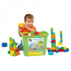 Jucarie cutie cu 100 de piese de constructie