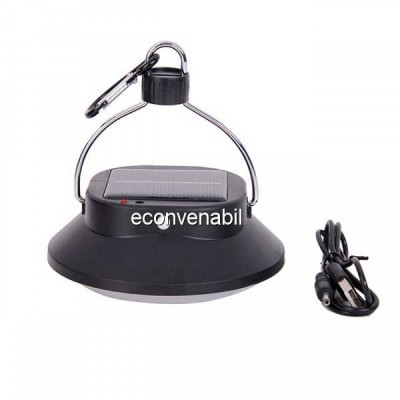 Lampa LED 3W incarcare USB si Solara cu Slot USB JS2868 foto